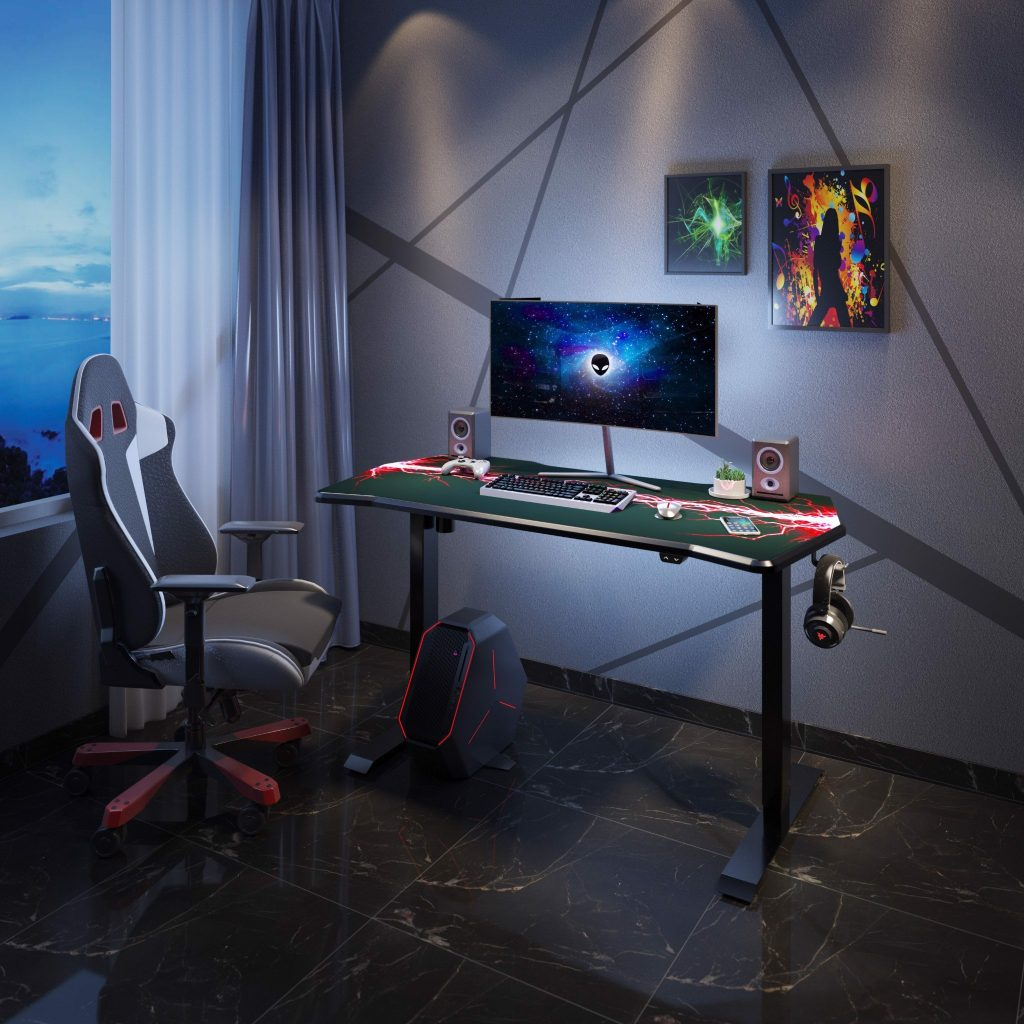 Flexispot Motion VIXGET120 height-adjustable gaming table.